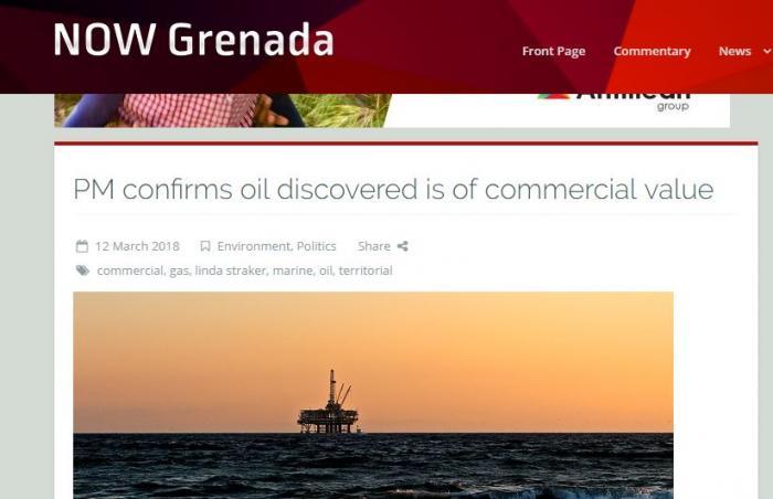Du gaz et du pétrole dans les eaux territoriales de Grenade