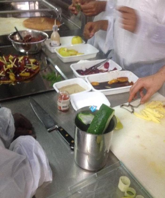 Ducos : Master Class de cuisine entre un chef et des élèves de 3 ème
