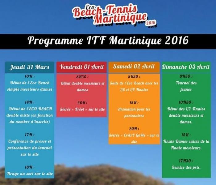 Eco beach tennis de Martinique : La compétition est lancée !