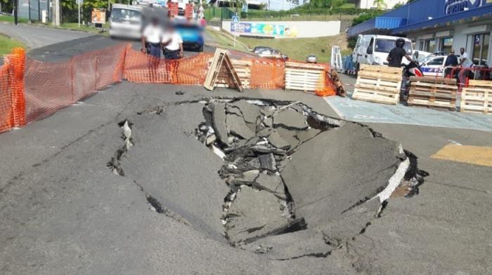 Effondrement de la route à Jambette : les premiers travaux prévus, ce dimanche