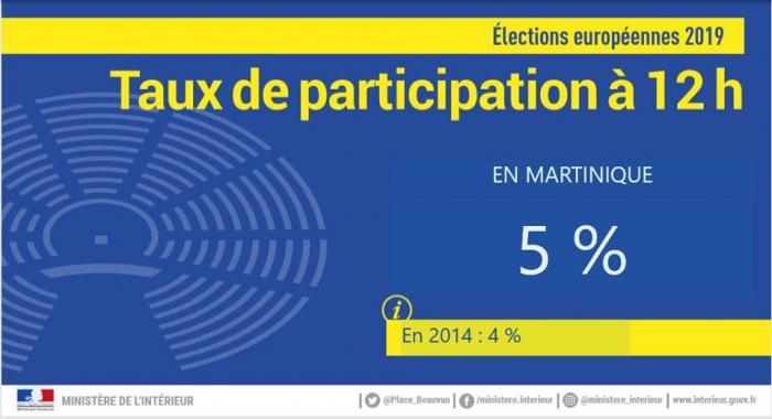 Election européennes : le taux de participation à midi est de 5%
