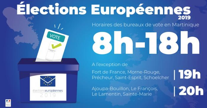 Elections européennes : horaires des bureaux de vote en Martinique