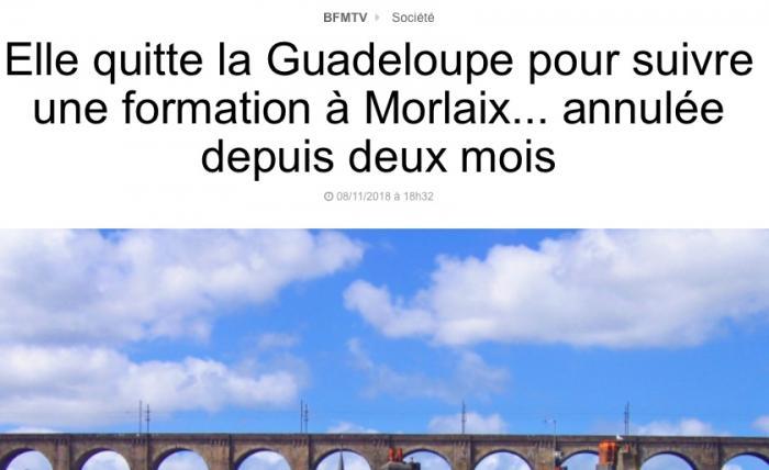 """""""Elle quitte la Guadeloupe pour suivre une formation annulée"""" : pas tout à fait"""