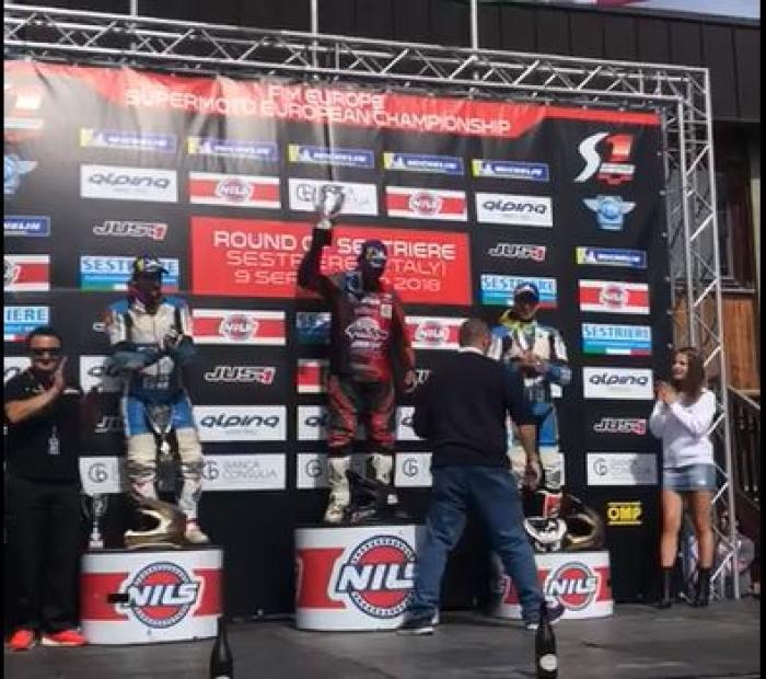 Emerick Bunod remporte la dernière course du championnat d'Europe de supermotard
