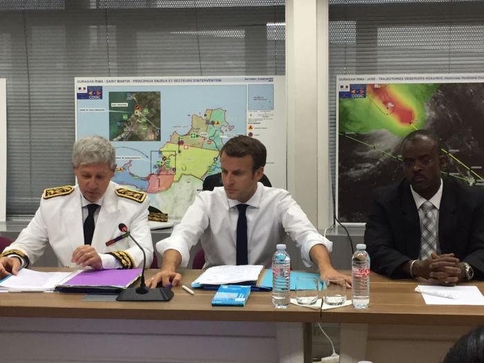 Emmanuel Macron a atterri en Guadeloupe