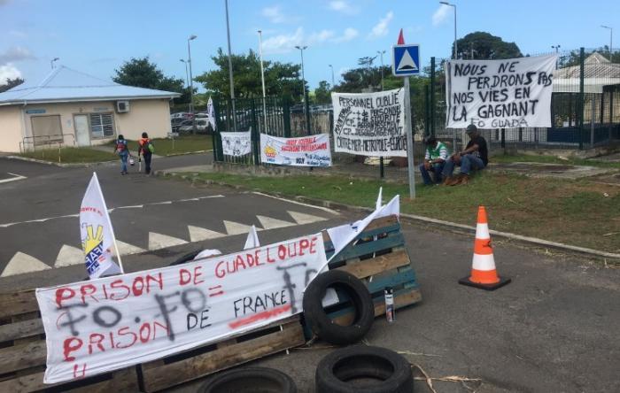 En Guadeloupe aussi les gardiens de prison se mobilisent