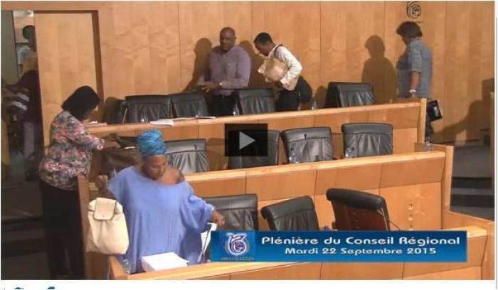 EN VIDEO : l'avant-dernière plénière de la collectivité « Région Martinique » ce vendredi 30 octobre 2015