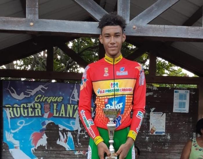 Erwan Legaillard est leader du tour cycliste cadet avant la dernière étape