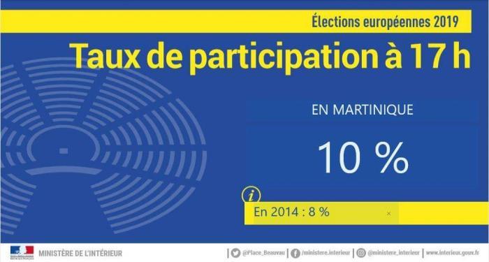 Européennes : le taux de participation à 17h est de 10%