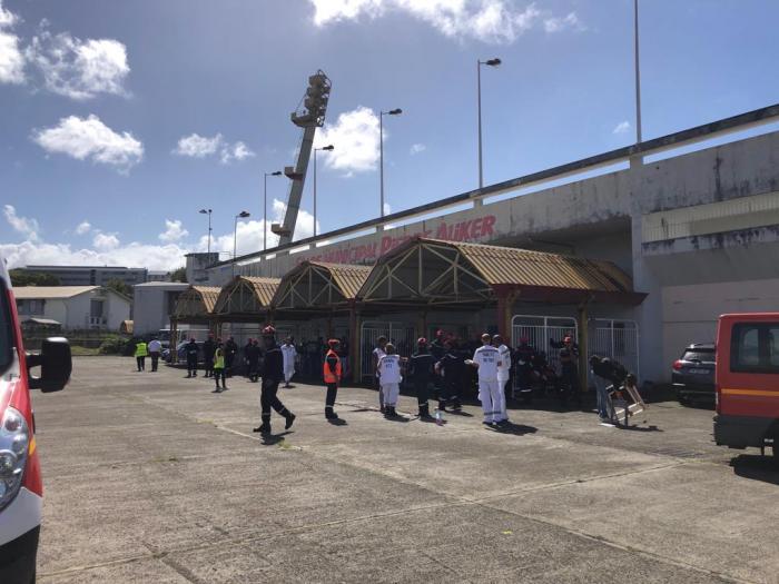 Exercice de sécurité civile au Stade Pierre Aliker à Dillon