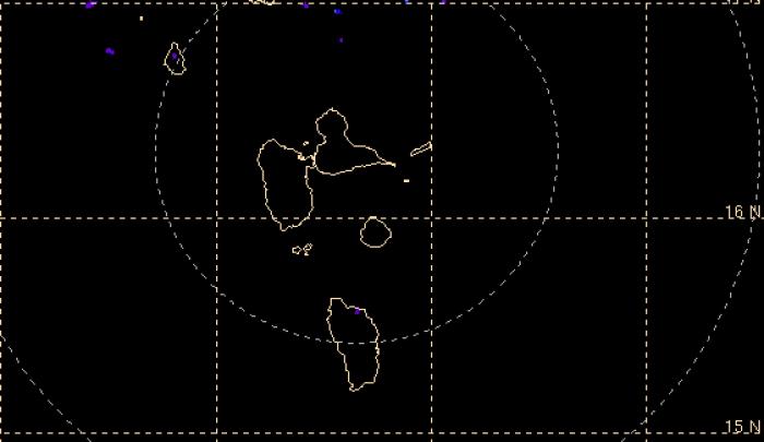 Fin de l'épisode pluvio-orageux sur la Guadeloupe, retour au vert