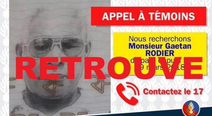 Gaétan Rodier retrouvé sain et sauf