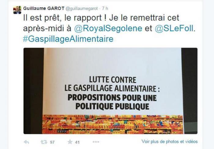 Gaspillage alimentaire : le député PS Guillaume Garot remet son rapport