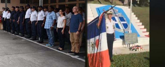 Gendarmes et policiers rendent hommage à Arnaud Beltrame