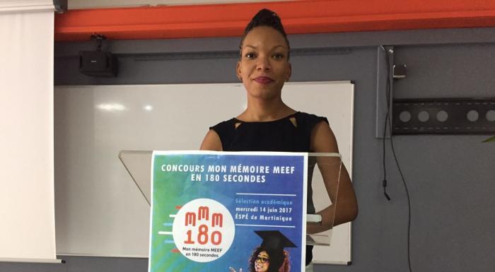 """Géraldine Maugée lauréate de la seconde édition du concours """"Mon mémoire MEEF"""" en 180 secondes"""