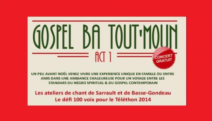 """""""Gospel ba tout' moun"""" au Lamentin (972)"""