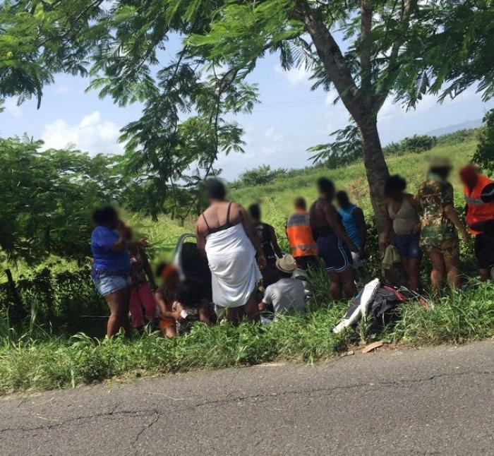 Grave accident de la route aux Trois-Ilets