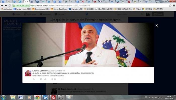 Haïti: Démission du premier ministre