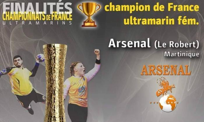 Handball : victoire de l'Arsenal du Robert face à l'Intrépide de Guadeloupe 26 à 18