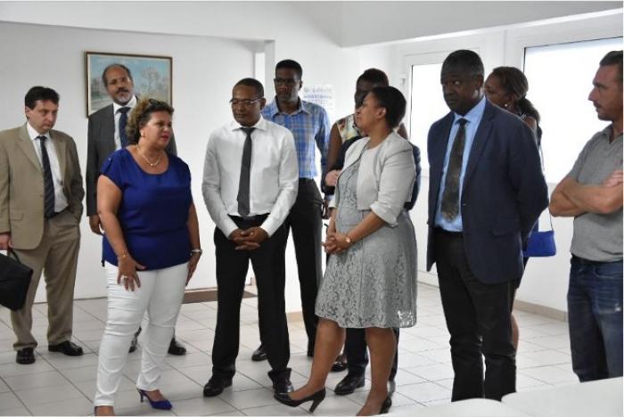 Hélène Geoffroy à la rencontre de Martiniquais en réinsertion