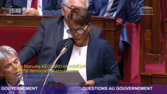 """""""Il faut déclarer un état de catastrophe naturelle"""", Manuéla Mondésir-Kéclard, concernant les échouages de sargasses"""
