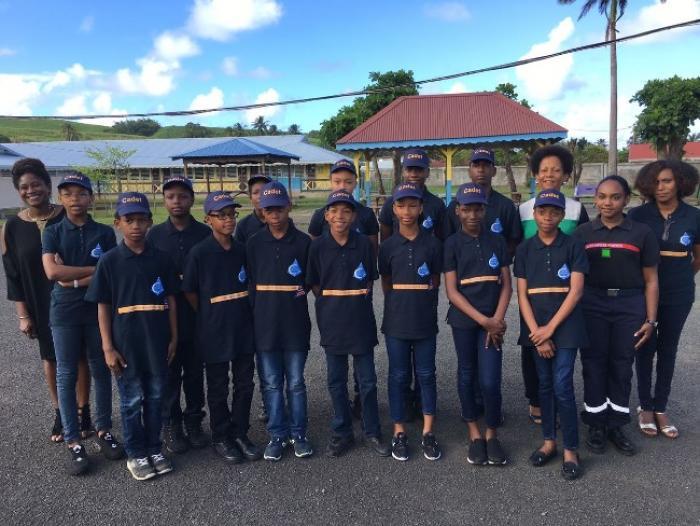 Inauguration d'une classe de cadets de la sécurité civile à Sainte-Marie
