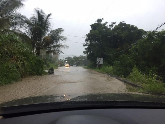 Inondations et montée des eaux dans le sud de l'île