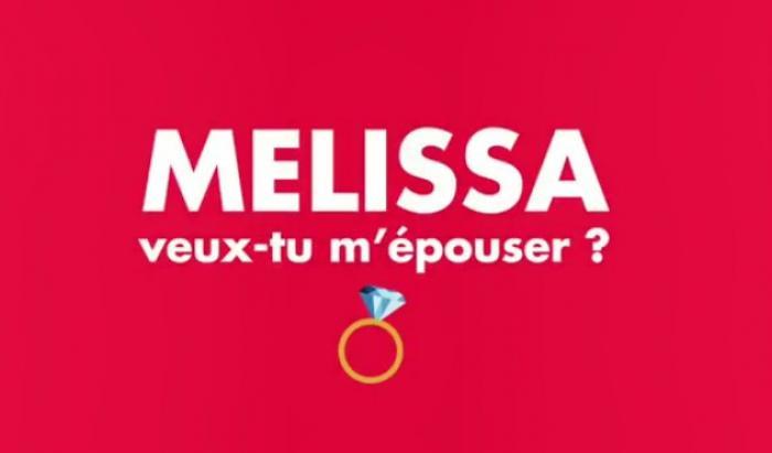 """Insolite : """"Mélissa"""" a répondu à sa demande en mariage"""