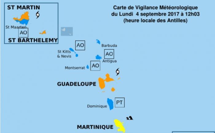 IRMA : la Guadeloupe placée en vigilance orange cyclonique