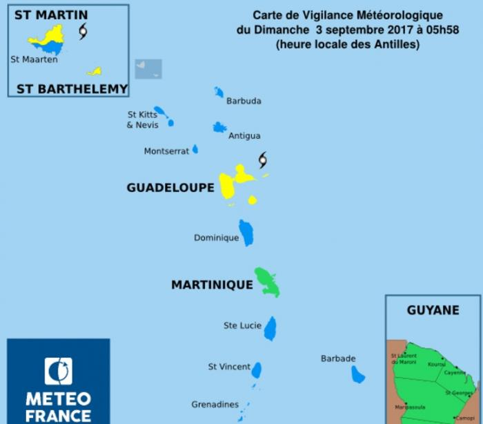 IRMA : vigilance jaune cyclone déclenchée