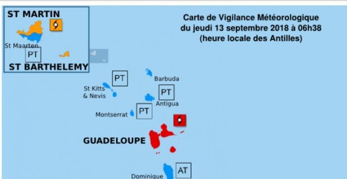 ISAAC : la vigilance rouge cyclone est maintenue