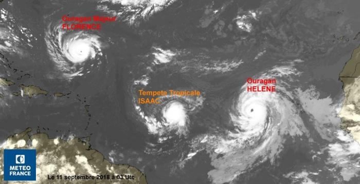 ISAAC rétrogradé en tempête tropicale