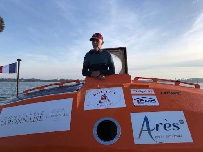 Jean-Jacques Savin a réussi sa traversée de l'Atlantique en tonneau