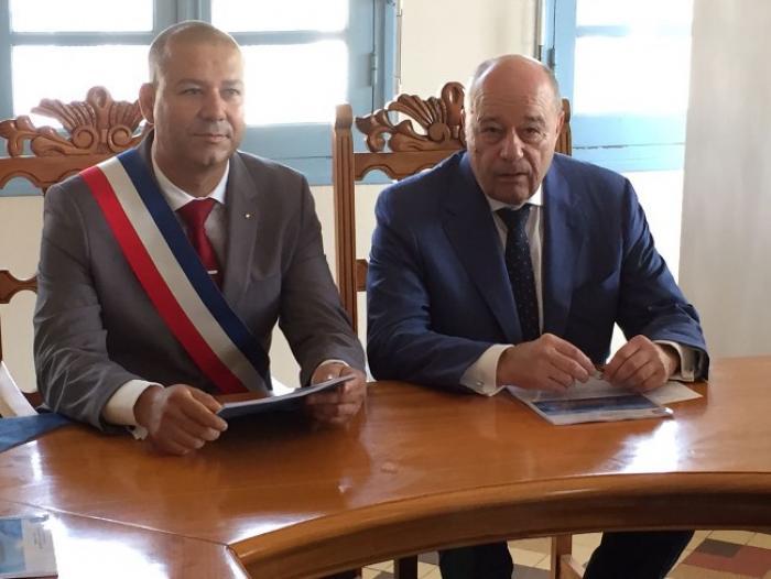 Jean-Michel Baylet, le ministre de l'Aménagement du territoire de passage en Guadeloupe
