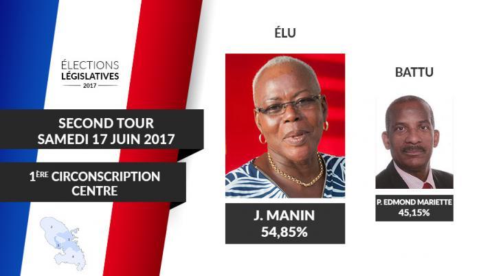 Josette Manin, première femme députée de la Martinique