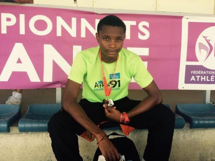 Jude Christine nouveau champion de France Cadets du 400 m à Albi