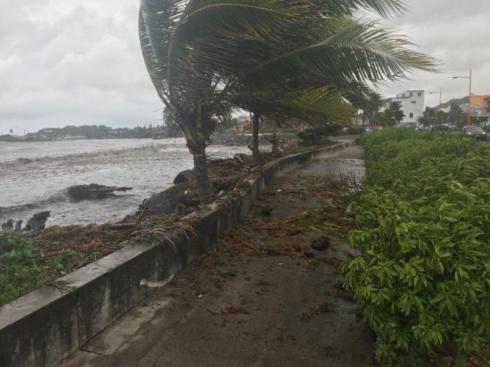 KIRK : les premiers effets sur le sud de la Martinique