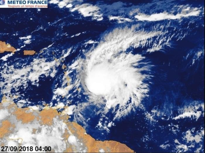 KIRK se rapproche des Petites Antilles, vigilance orange cyclone en cours