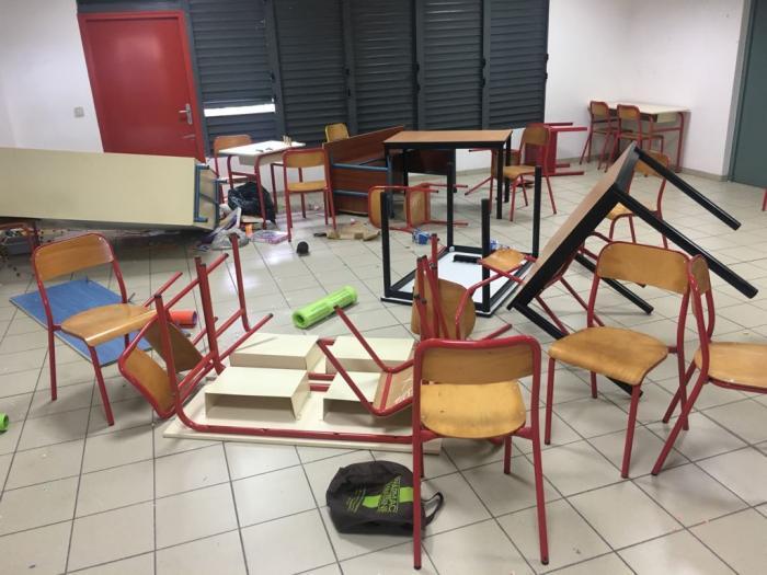 L'école maternelle et élémentaire de Carénage aux Abymes vandalisée la nuit dernière