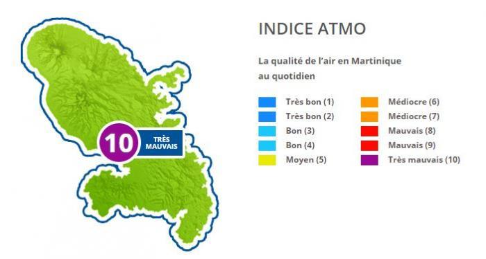 L'air toujours irrespirable en Martinique !