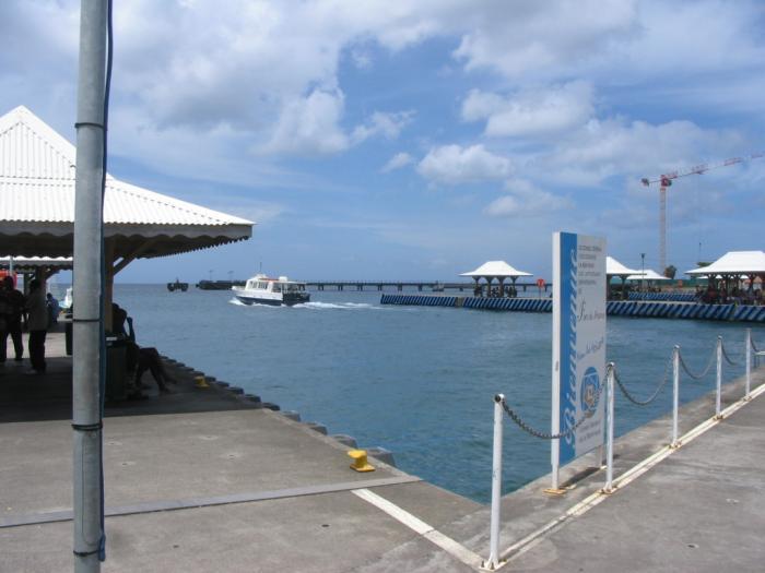 L'Anse Mitan et l'Anse à l'Âne ne sont pas desservies à cause de la houle