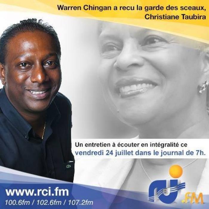 L'entretien intégrale de Christiane Taubira dès 7h sur RCI Guadeloupe