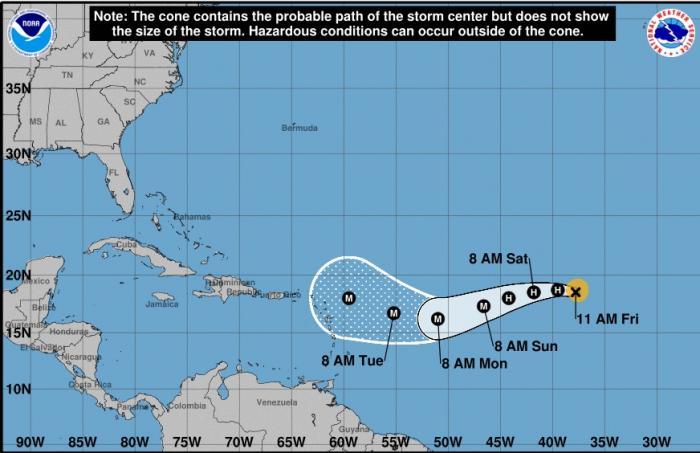 L'ouragan IRMA rétrogradé en catégorie 2