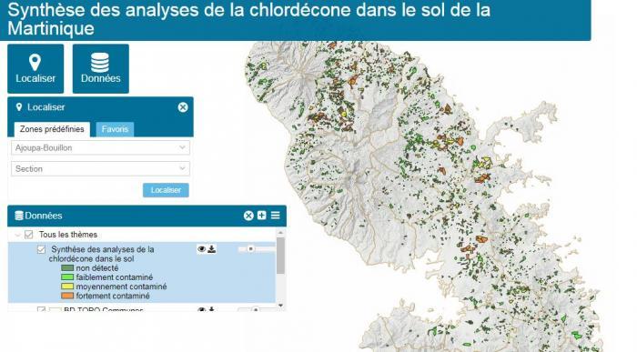 La carte actualisée des sols contaminés par le chlordécone est en ligne