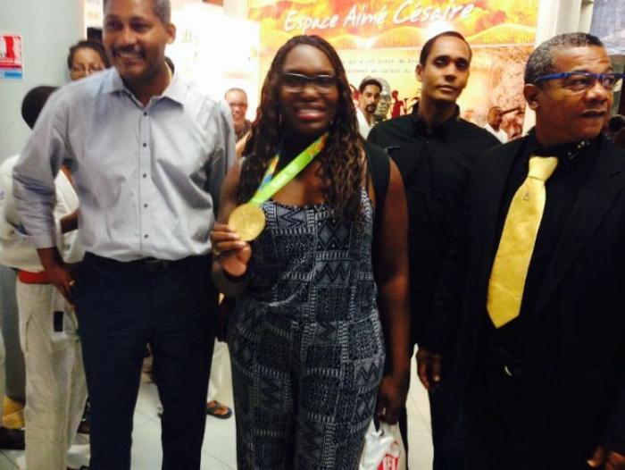 La championne olympique Emilie Andéol de retour en Martinique