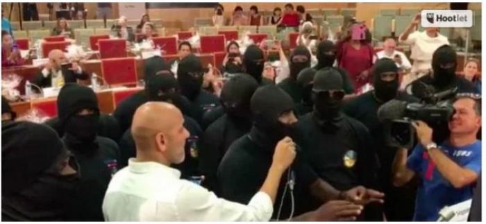 La clôture de la 14ème conférence de la Convention de Carthagène à Cayenne perturbée par  des hommes encagoulés