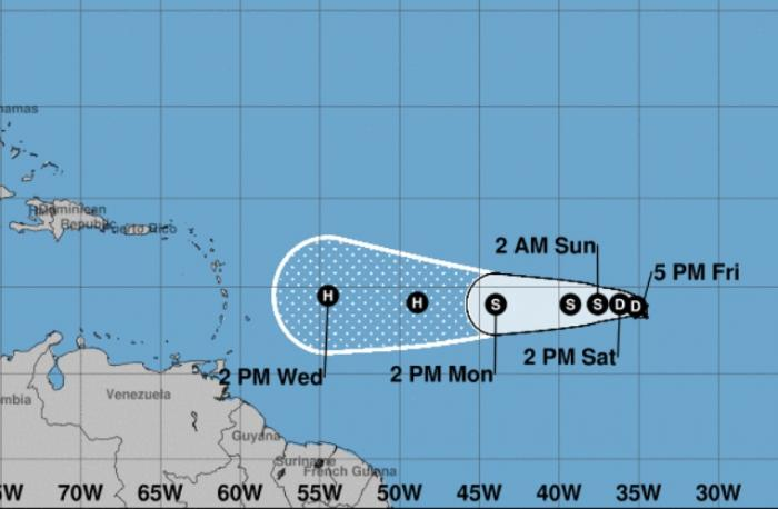 La dépression tropicale numéro 9 est née et pourrait concerner l'arc antillais
