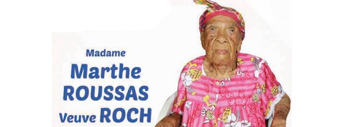 La doyenne de la Guadeloupe, Marthe ROCH , a fêté ses 110 ans ce week-end