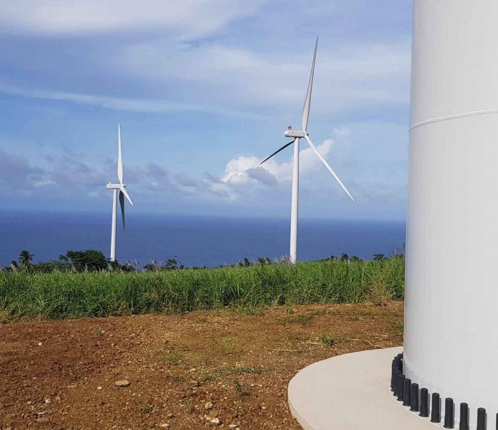 La ferme d'éoliennes de Grand Rivière est en service