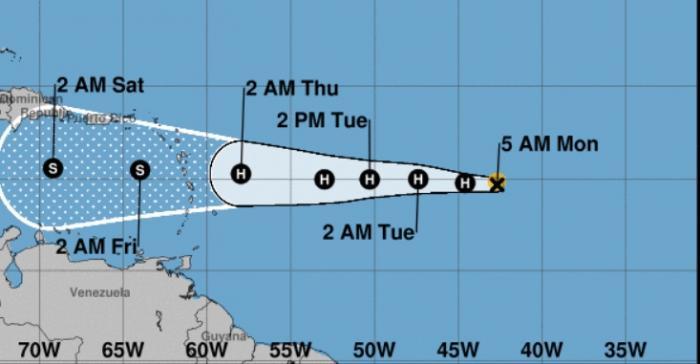 La Guadeloupe en vigilance  jaune cyclonique